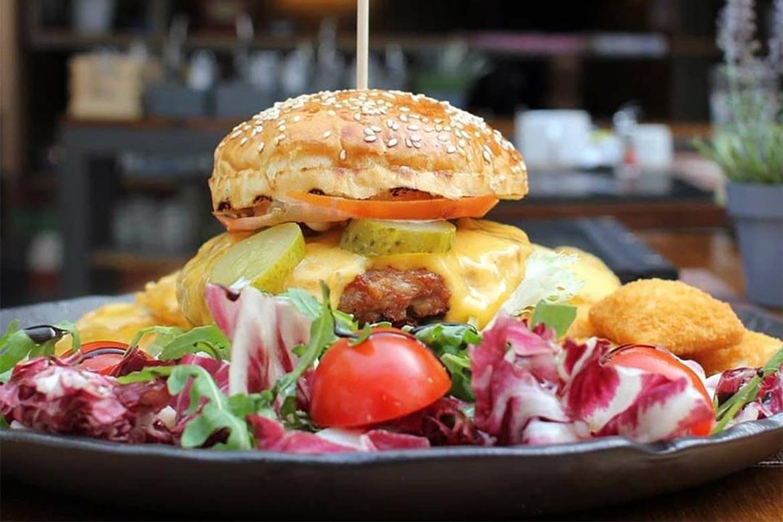 dinner at american burger restaurant split stag croatia 4