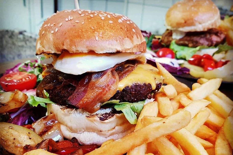 dinner at american burger restaurant split stag croatia 7