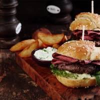 dinner at american burger restaurant stag croatia 1