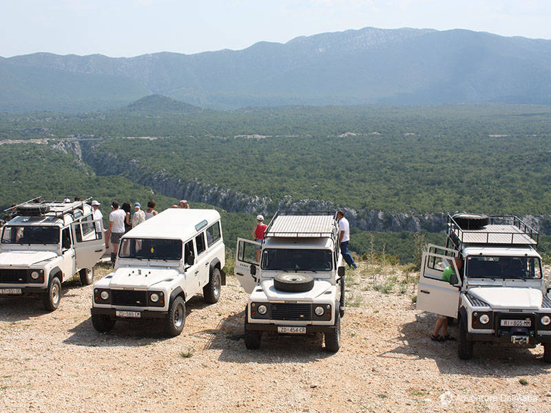 5 Jeep safari   Canyon of river Cetina