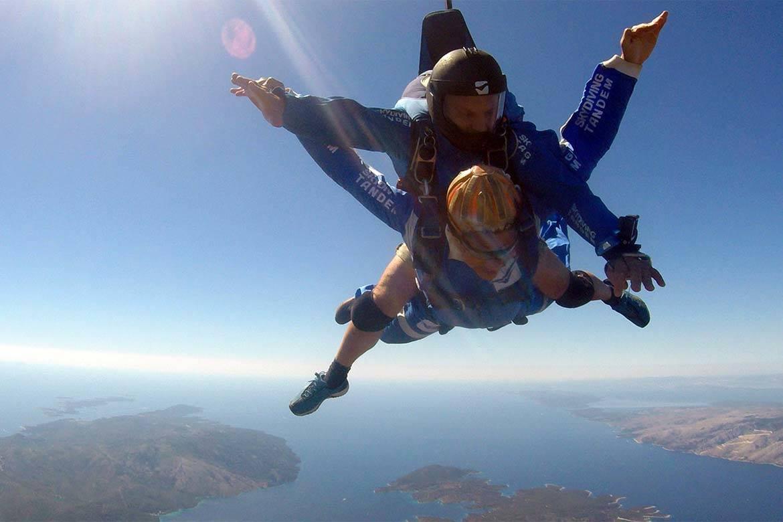 tandem jump skydiving stag croatia 1